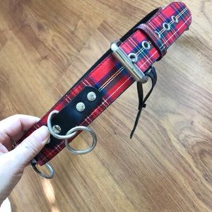 Vintage punk tartan belt